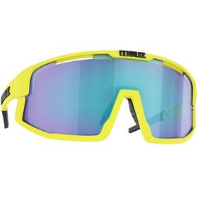Bliz Vision Occhiali, matt neon yellow/smoke with blue multi